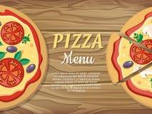 Pizza Menu Banner. For Pizzeria, Restaurant Ad Stock Image