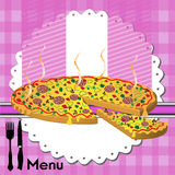 Pizza menu Royalty Free Stock Images