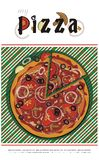 Pizza menu cover - vector drawing Royalty Free Stock Photography