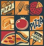 Pizza menu creative comic concept Royalty Free Stock Photos