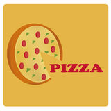 Pizza for menu design Royalty Free Stock Image