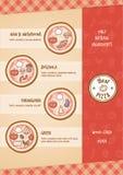 Pizza menu Stock Photography