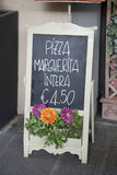 Pizza Menu, Piazza San Michele Square; Lucca Royalty Free Stock Photography