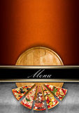 Pizza menu projekt Fotografia Royalty Free
