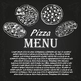 Pizza menu 5 Stock Images