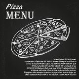 Pizza menu 4 Royalty Free Stock Photo