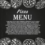 Pizza menu 6 Stock Photo