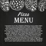 Pizza menu 4 Stock Photography