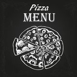 Pizza menu 3 Stock Image