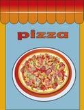 Pizza, menu, ristorante, illustrazione Fotografia Stock