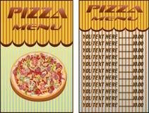 Pizza, menu, ristorante, illustrazione di vettore Immagine Stock