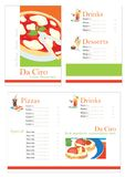 Pizza Menu template Royalty Free Stock Image