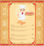 Pizza Menu Template Royalty Free Stock Photography