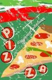 Pizza menu template Stock Photography