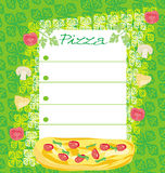 Pizza Menu Template Stock Image