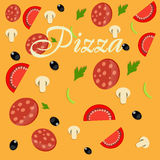Pizza menu template  illustration Royalty Free Stock Photos