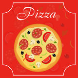 Pizza menu template vector illustration Royalty Free Stock Images
