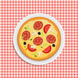 Pizza menu template vector illustration Stock Photography