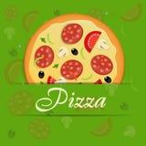 Pizza menu template vector illustration Stock Photos