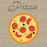 Pizza menu template vector illustration Stock Photography