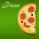 Pizza menu template vector illustration Royalty Free Stock Image