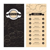 Pizza Menu Template Royalty Free Stock Images
