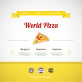 Pizza Menu Template, vector illustration Royalty Free Stock Image