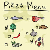 Pizza menu Royalty Free Stock Image