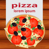 Pizza menu, vector illustration Royalty Free Stock Image