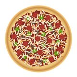 Pizza met Bovenste laagjes Stock Foto's
