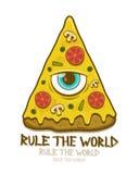 Pizza met metselaaroog Stock Afbeeldingen