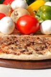 Pizza met paddestoelen en kaas Royalty-vrije Stock Afbeelding