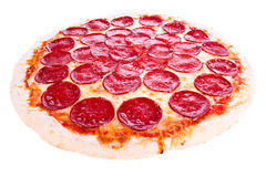 Pizza met pepperoni Royalty-vrije Stock Foto