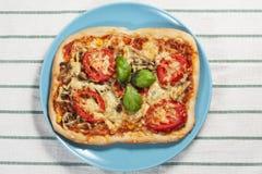 Pizza met tomaten Royalty-vrije Stock Afbeelding