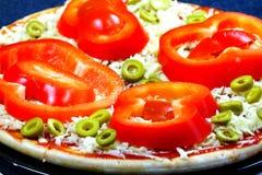 Pizza met tonijnvissen Stock Afbeeldingen