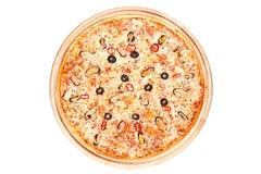 Pizza met zeevruchten Stock Afbeeldingen