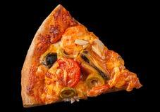 Pizza met zeevruchten royalty-vrije stock afbeeldingen