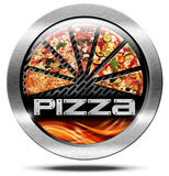 Pizza - Metal Icon Royalty Free Stock Images