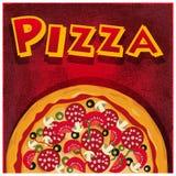 Pizza mezza Immagini Stock