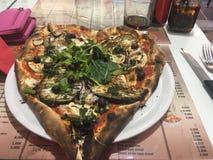 Pizza min hjärta, Nice, Frankrike royaltyfria foton