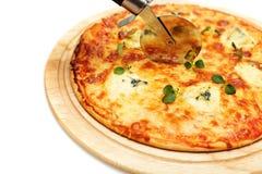 Pizza mit Blauschimmelkäse Lizenzfreies Stockfoto