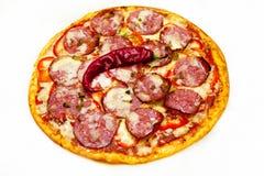 Pizza mit Fleisch 1 Lizenzfreies Stockfoto