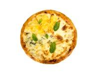 Pizza mit Käse Stockbild