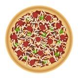 Pizza mit Spitzen Stockfotos