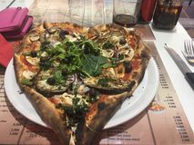 Pizza mon coeur, Nice, France photos libres de droits