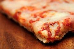 Pizza with mozzarella detail Stock Photos