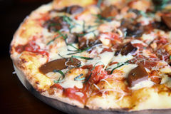 Pizza mushroom Royalty Free Stock Images