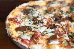 Pizza mushroom Stock Images