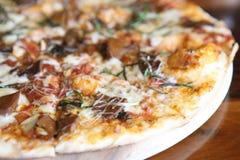 Pizza mushroom Stock Photography