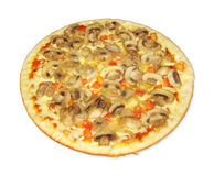 Pizza with mushrooms Stock Images